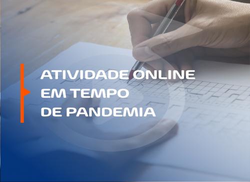 Atividade online em tempo de pandemia